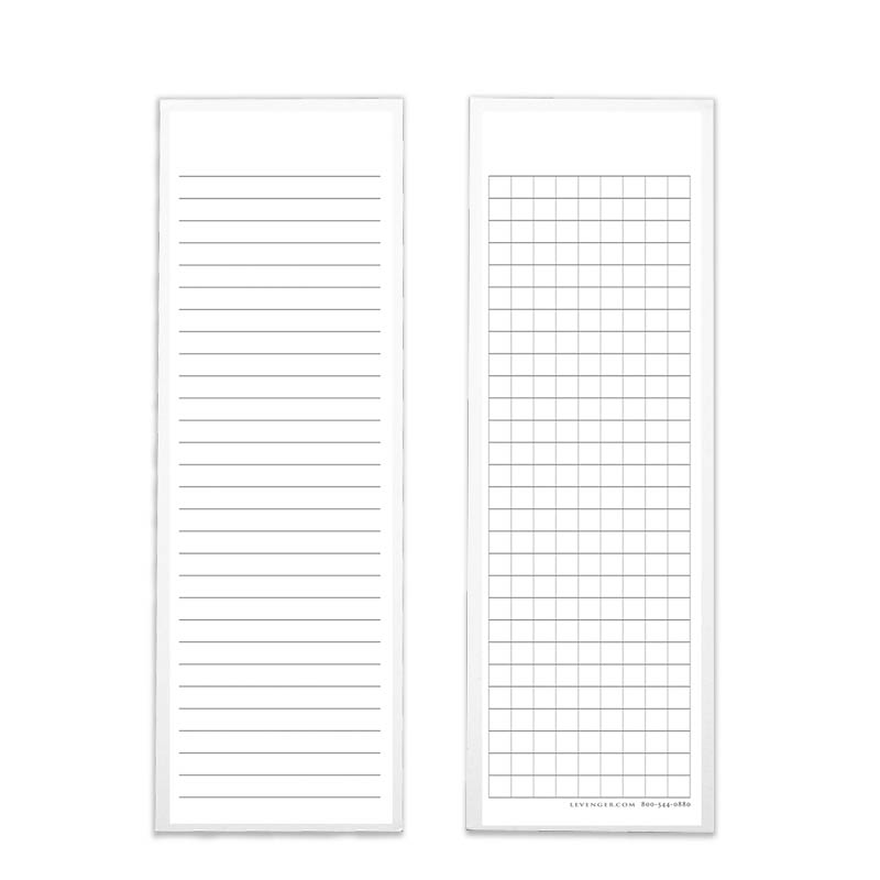 100 Ruled/Grid Bookmark Cards