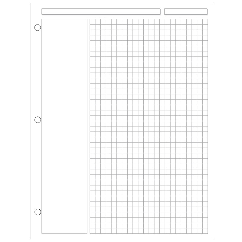 Special Request™Annotation Grid (100 sheets), 3-Ring, Letter