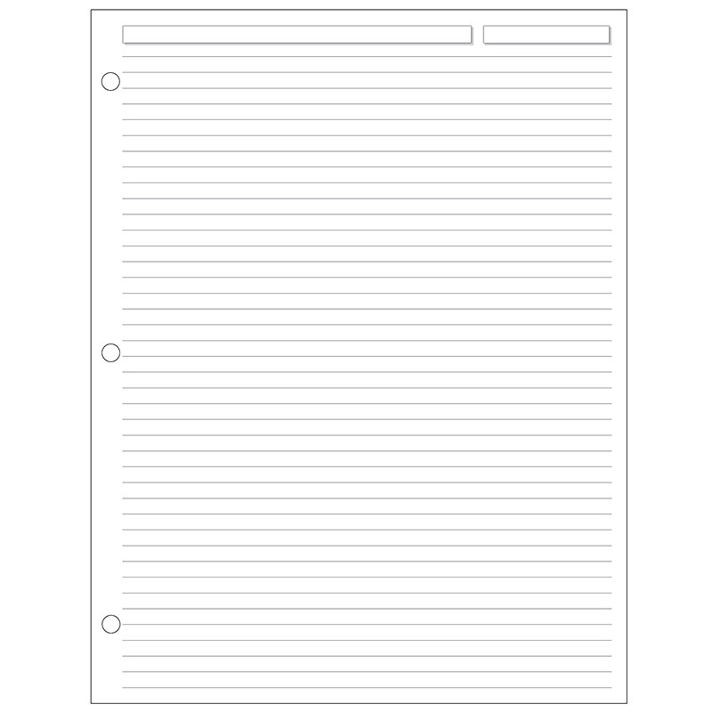 Special Request™Full-Page Ruled (100 sheets), 3-Ring, Letter