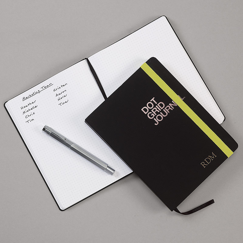 Behance Dot Grid Journal with personalization