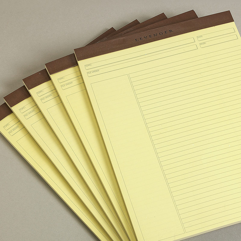 Freeleaf Yellow Annotation Ruled Pads, Letter