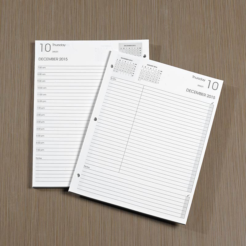 3-Ring Daily Planner Refill 15