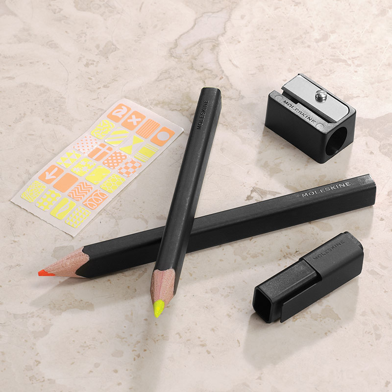Moleskine® Highlighter Pencil Set (Set of 2 pencils)