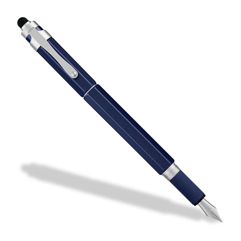L-Tech 3.0 Fountain Pen, Royal Blue w/ Rubber Stylus