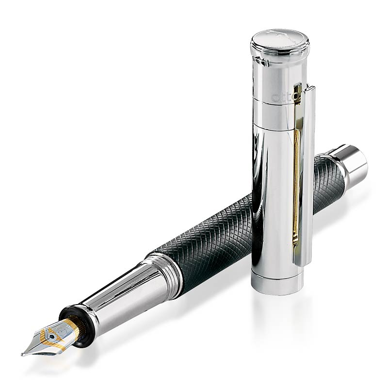 Otto Hutt Design 04 Square Guilloche Ftn Pen