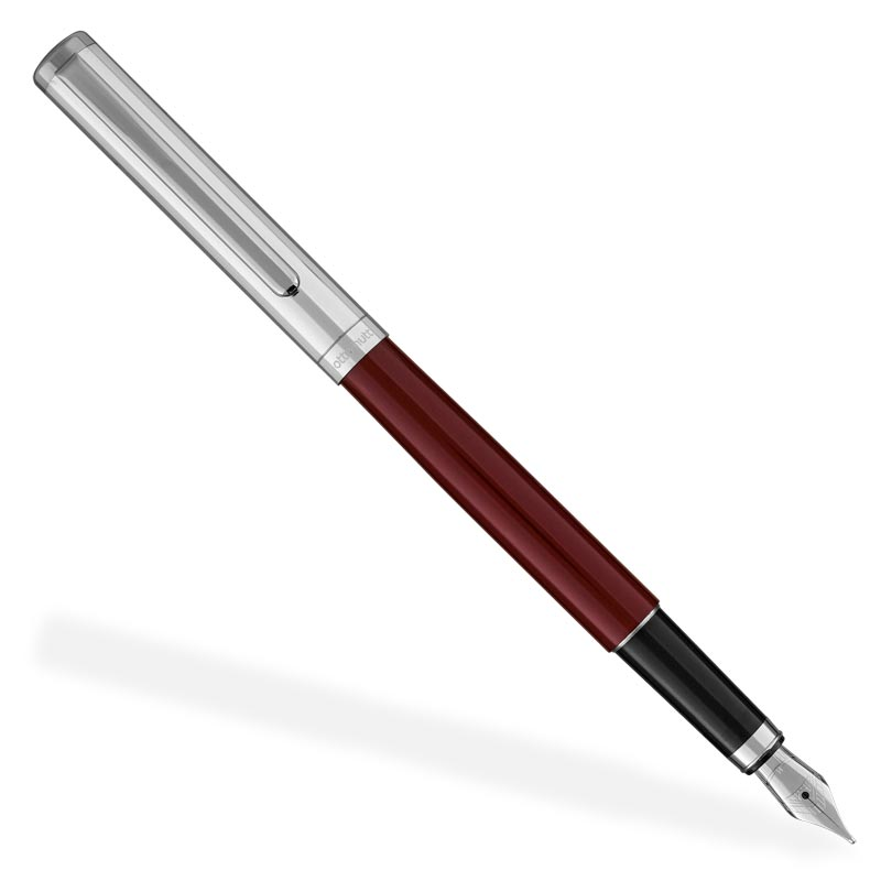 Otto Hutt Design 1 Lacquer Fountain Pen, Red