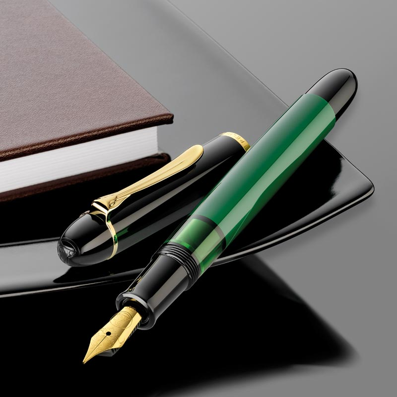 Pelikan M120N Black Green Fountain Pen