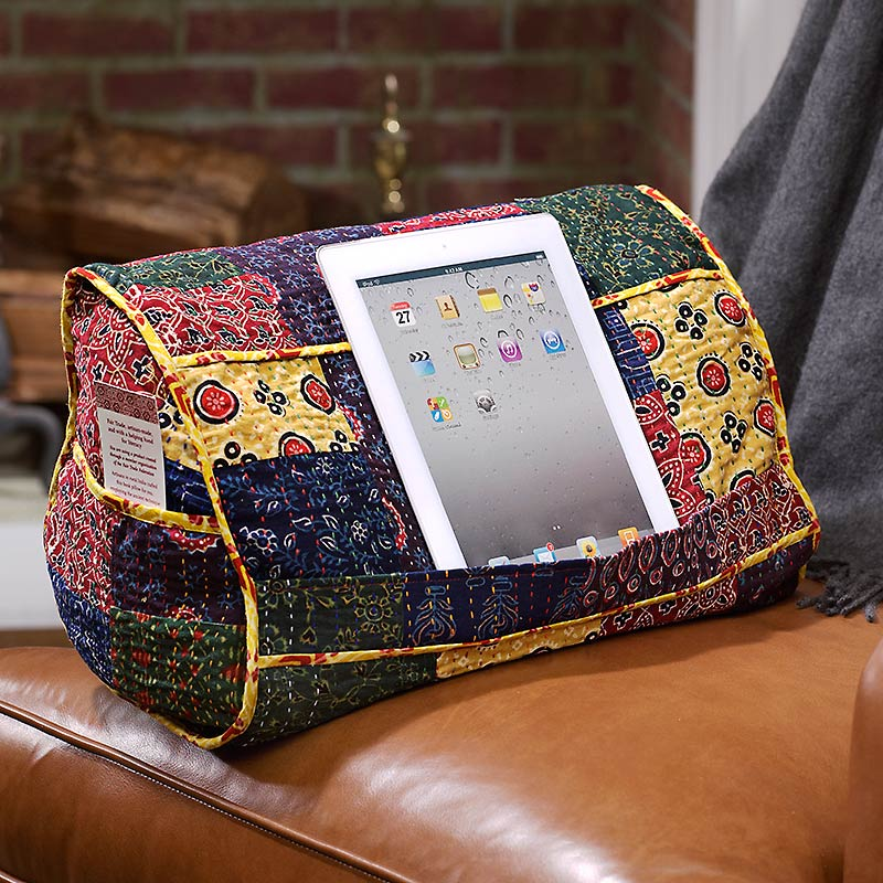 India Cloud Kantha Book Pillow