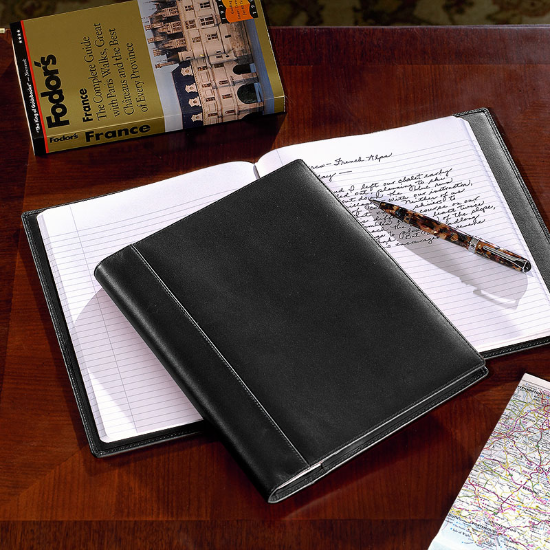 Notabilia Notebook with Leather Cover, Black