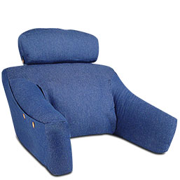 Bedlounge pillow with slipcover pillow cushion levenger for Pillow back bed frame
