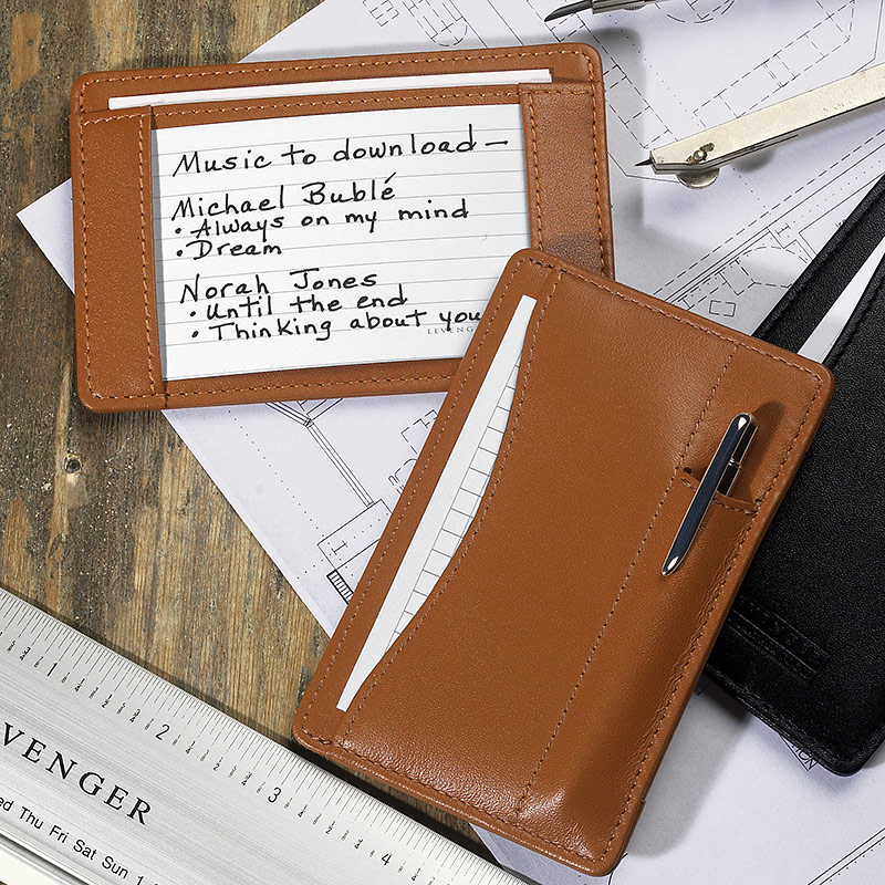 Slim Wallet Writer™ with Pen, Saddle