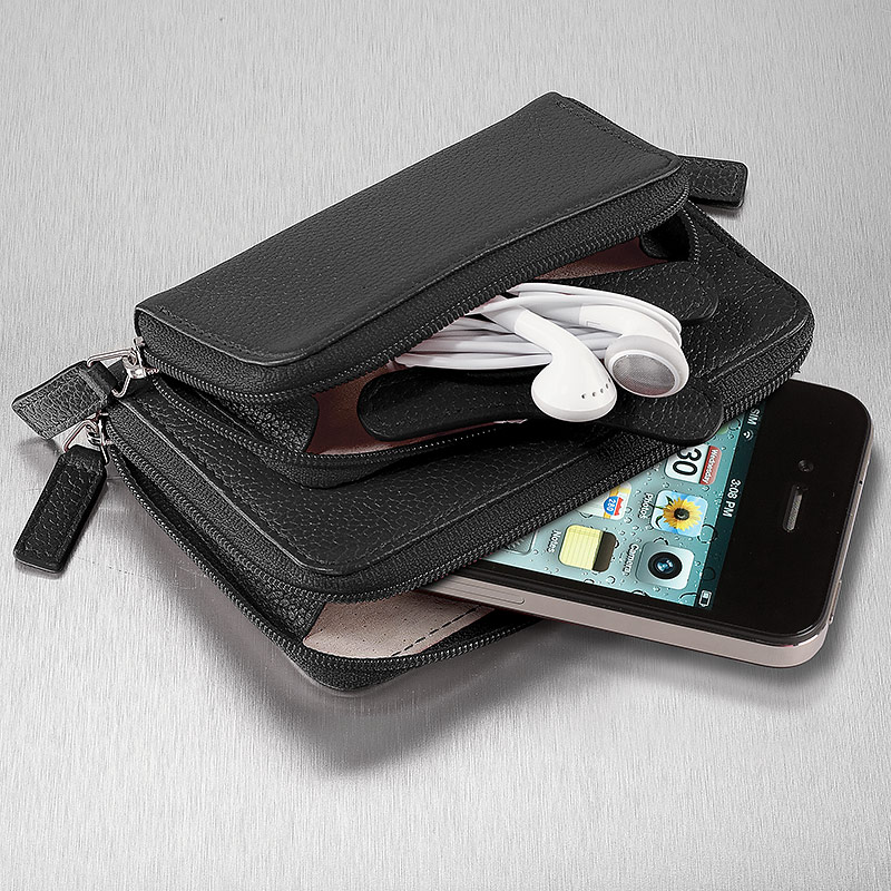 Pocquettes™ iPhone®/Earbud Case, Black