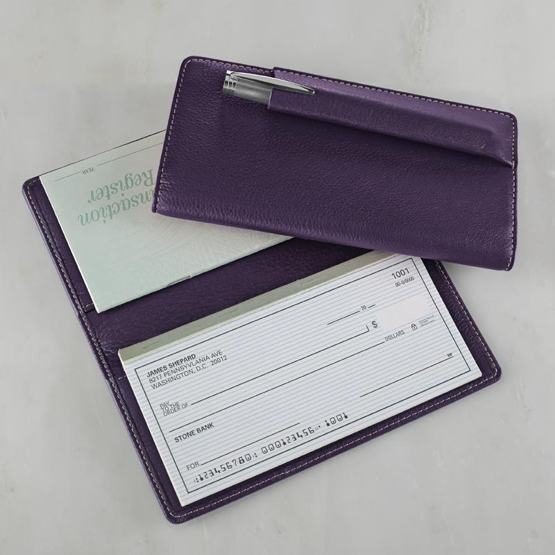 Business Cheque Book Covers : Carisma™ pennington checkbook cover leather