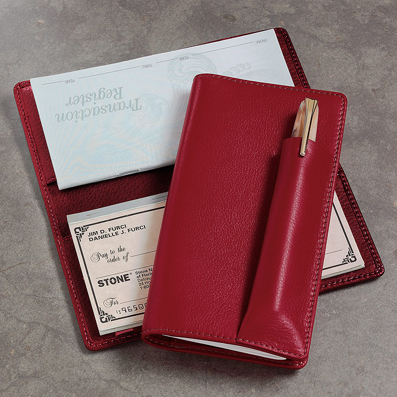 Pennington Checkbook Cover, Red