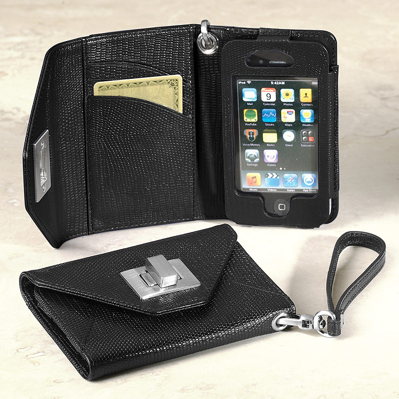 Carry My World™ iPhone Wallet, Black
