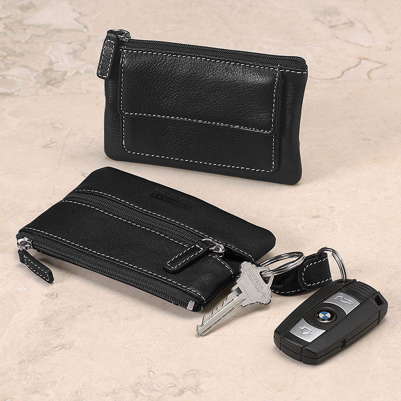 Carezza Coin & Key Case, Black