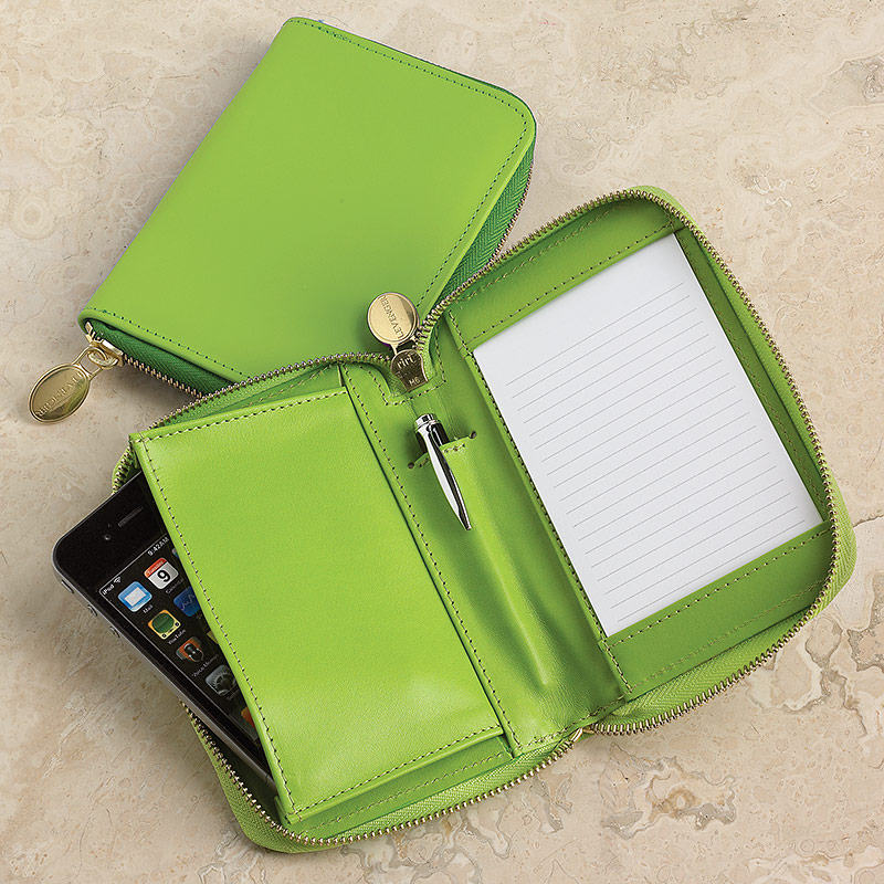 English Phone/Note Case, Green