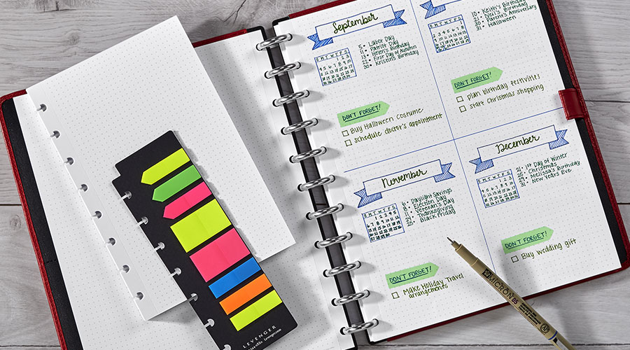 Versatile, customizable format — compatible with bullet journal organization!