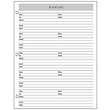 Special Request™ Address (100 sheets), 3-Ring, Letter