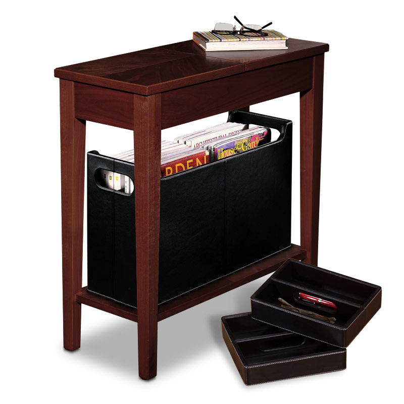 No-Room-for-a-Table™ Table with Baskets, Dark Cherry