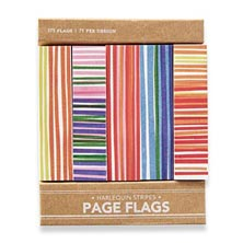 Sanibel Page Flags, Harlequin Stripes