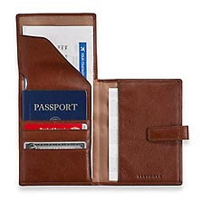 Privacy Passport Ticket Wallet - Brandy