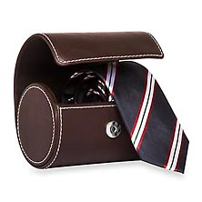 Necktie Roll Case - Brown