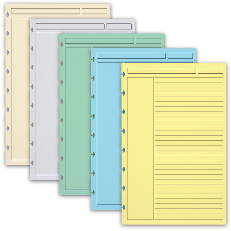 300 Circa Multicolored Annotation Ruled Refill Sheets, Junior