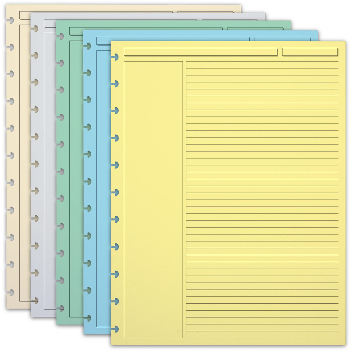 300 Circa Multicolored Annotation Ruled Refill Sheets, Letter