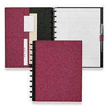 Circa Bookcloth Foldover Notebook, Rose, Letter