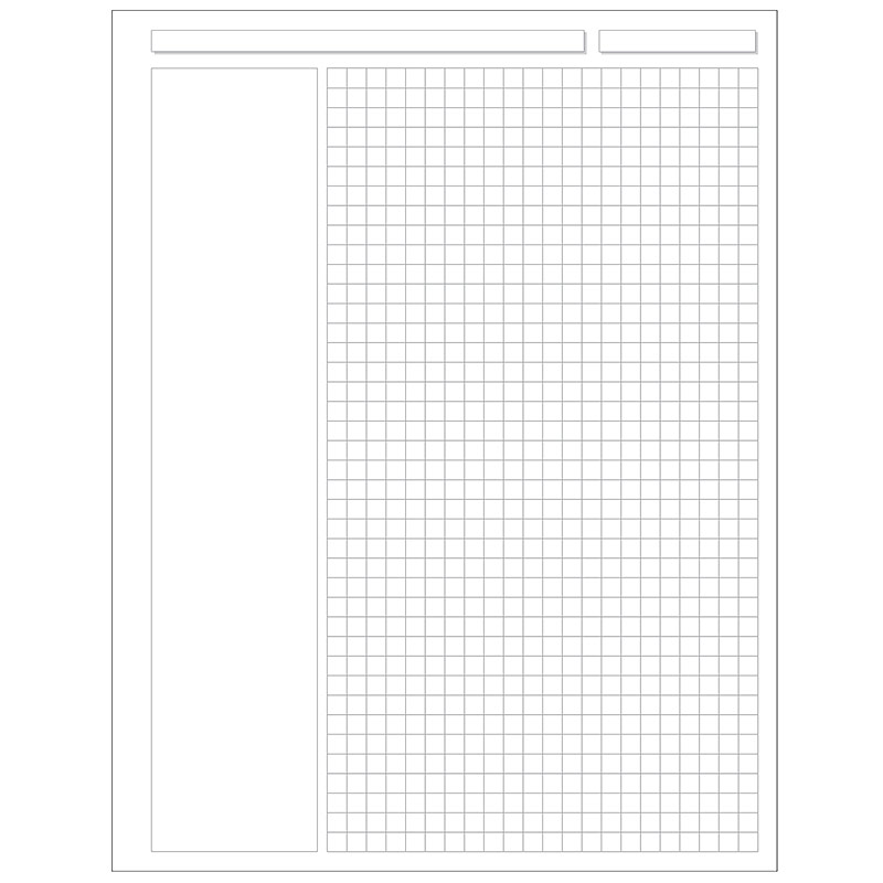Special Request™  Annotation Grid (100 sheets), Unpunched, Letter