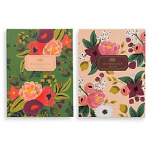 Vintage Gold Foil Notebooks (set of 2)