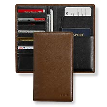 RFID Airport Wallet, Brown
