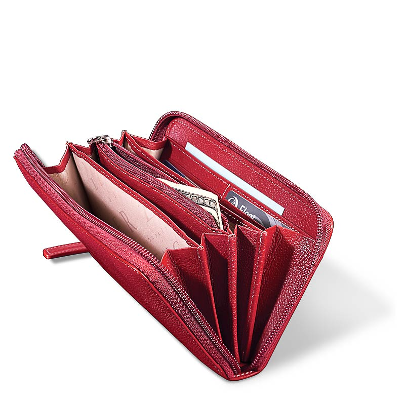 Accordion Wallet, Red