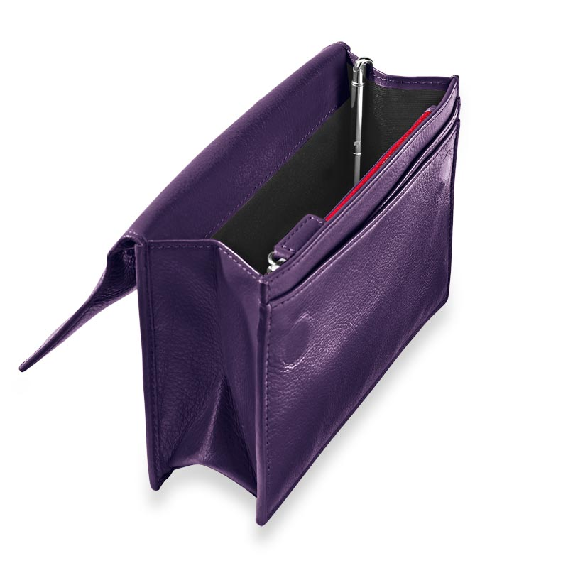 RFID Travel Wallet with Walletini Pen, Grape