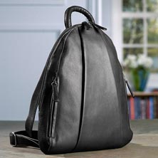 Marley Teardrop Multi Zip Backpack - Black