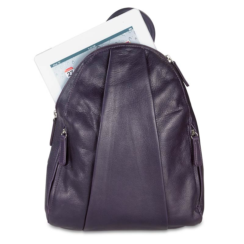 Marley Teardrop Multi Zip Backpack - Plum