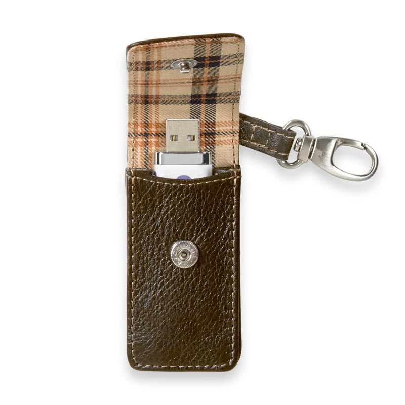 Bomber Jacket Flash Drive Holder - Mocha