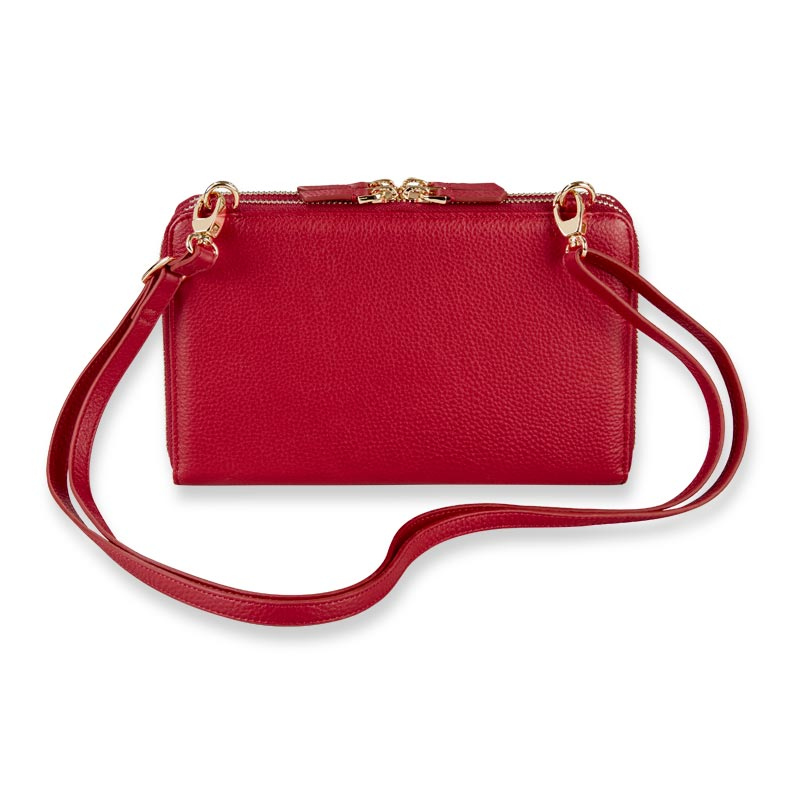Carrie Convertible Clutch - Chili Pepper