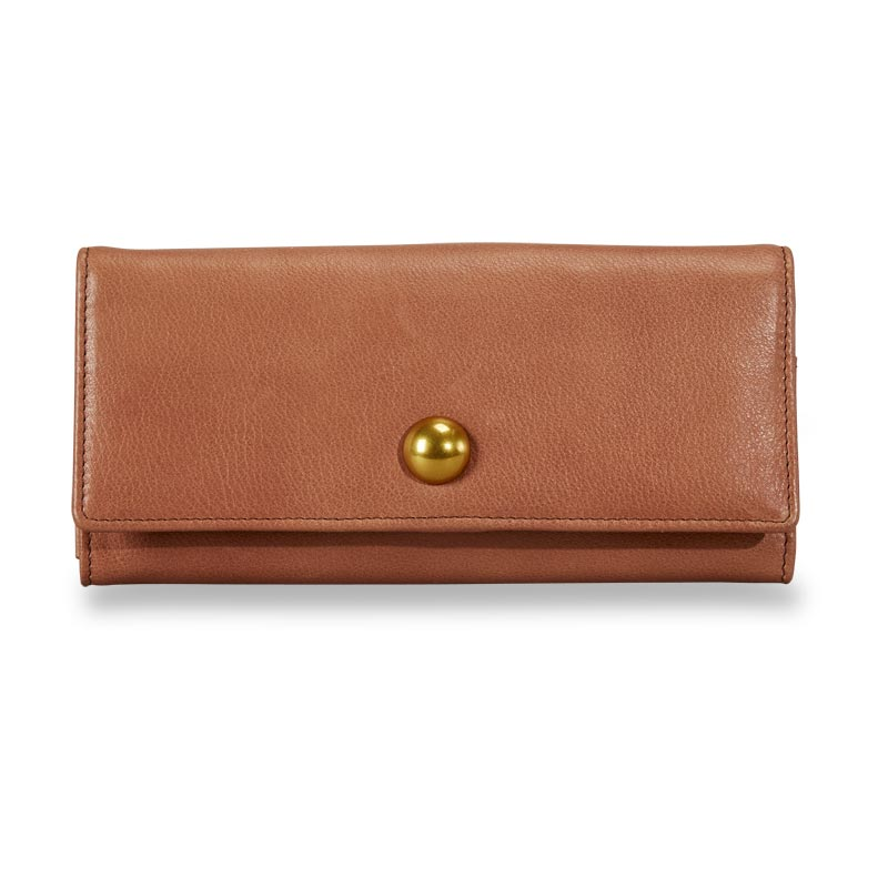 Jayne Accordion Wallet - Caramel