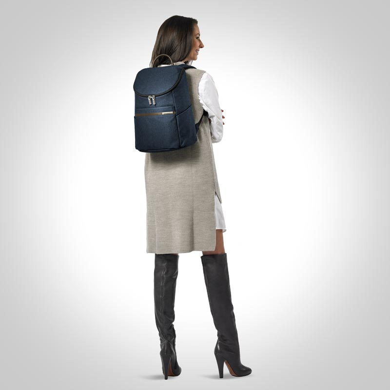 Kinzie Street Small Wide-Mouth Backpack - Navy