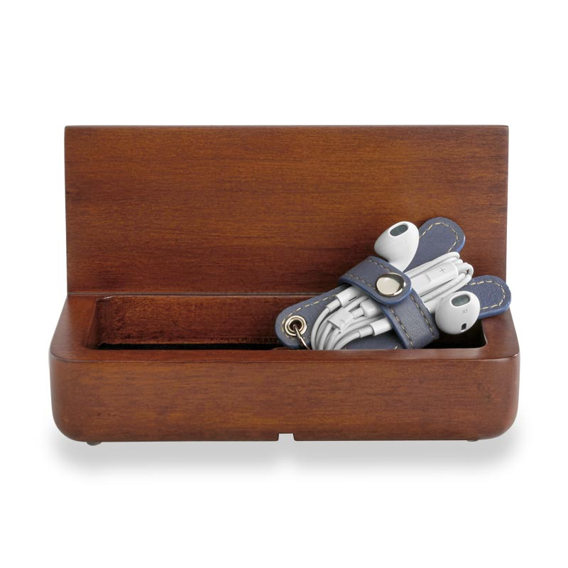 Wood Tablet Storage Stand