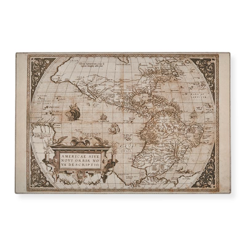 Vintage Map Print Work Pad Insert
