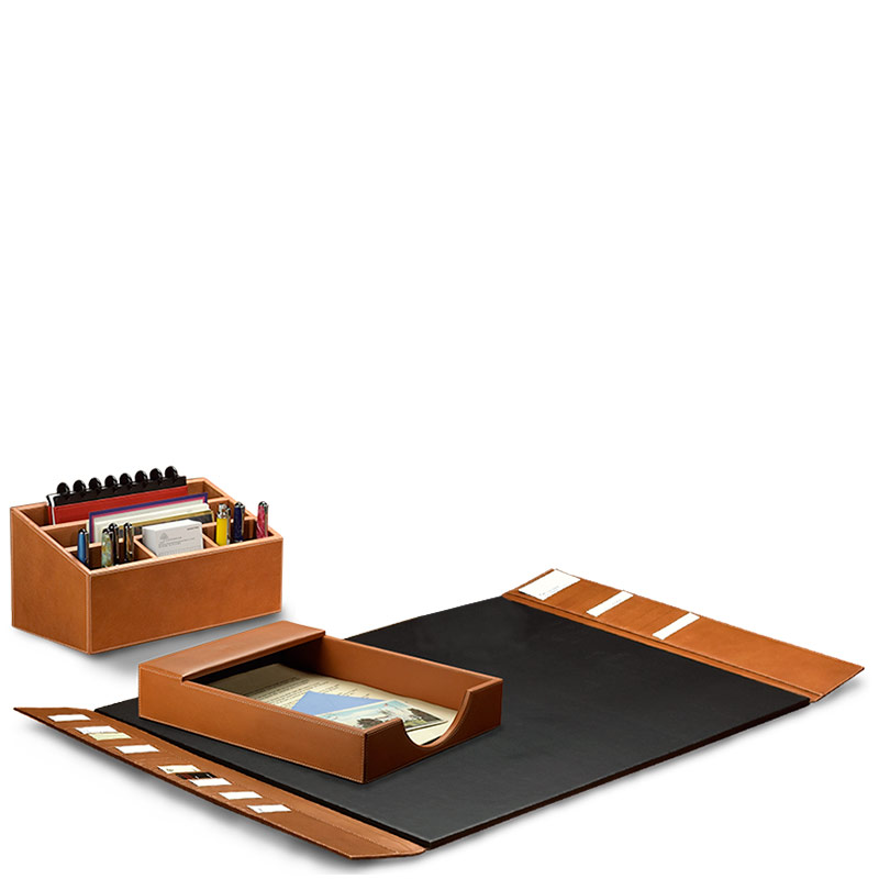 Morgan Desk Set (3 Piece), Tan
