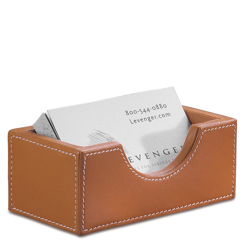 Morgan Business Card Holder, Tan