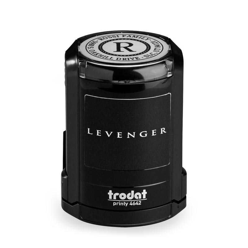 Gladstone Personalized Self-Inking Stamper, Round