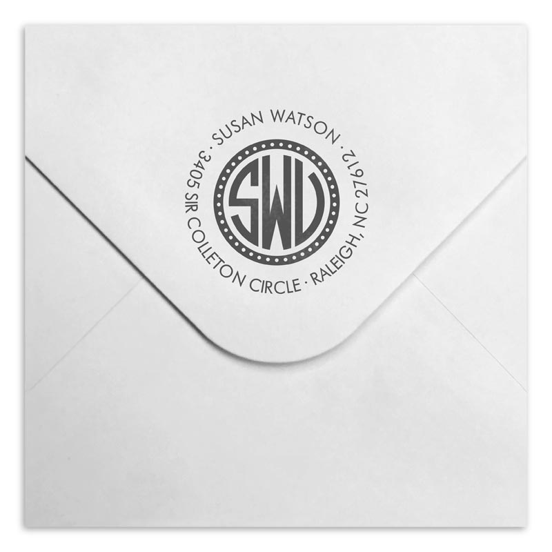 Watson Personalized Self-Inking Stamper, Round