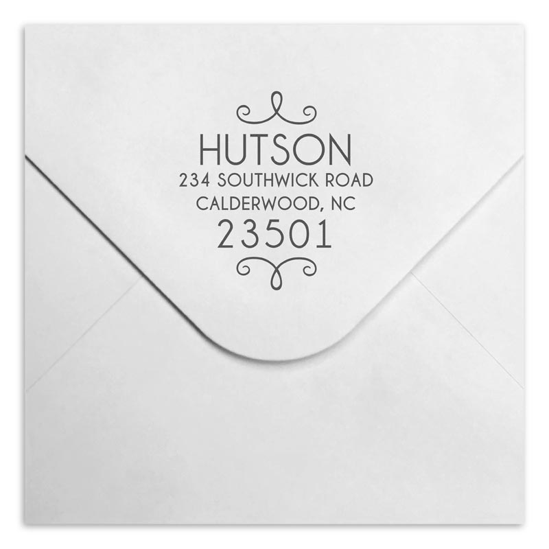 Hutson Personalized Self-Inking Stamper, Round
