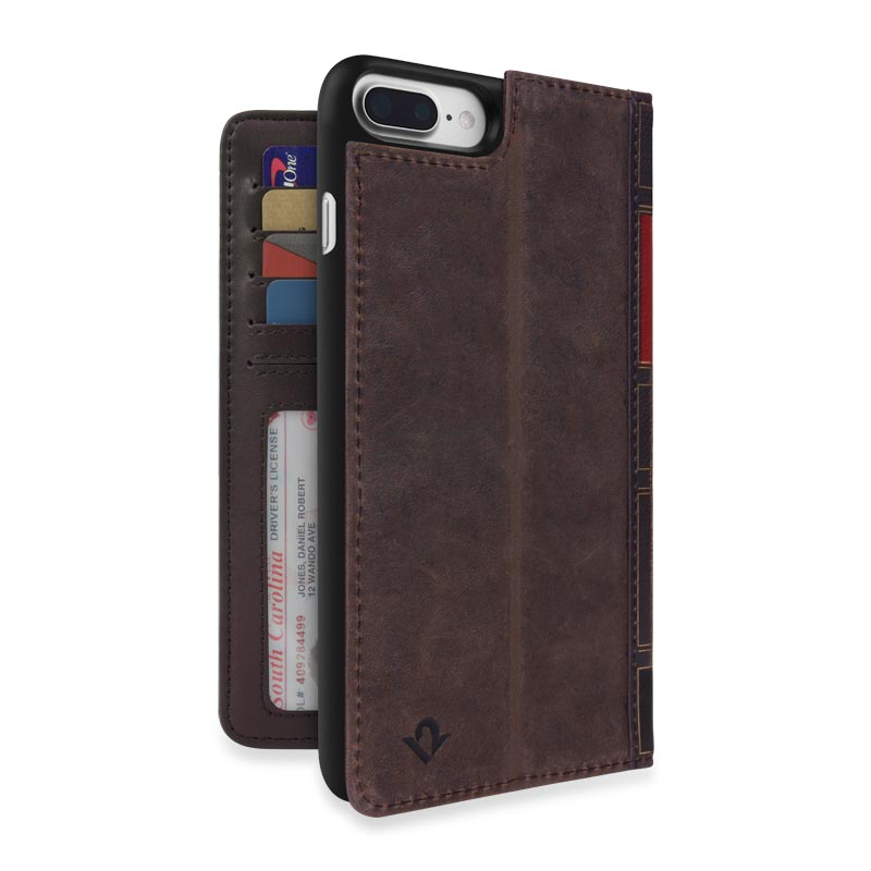 Book Book for iPhone® 7 Plus - Brown