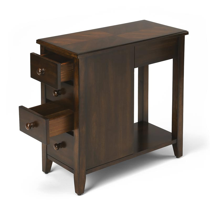 Chairside Storage Table with Drawers